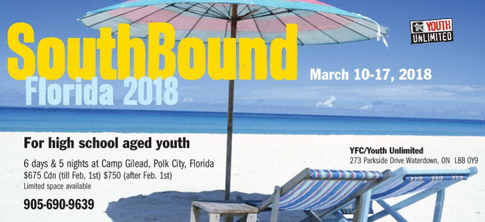 SOUTHBOUND 2018! MARCH 10-17!