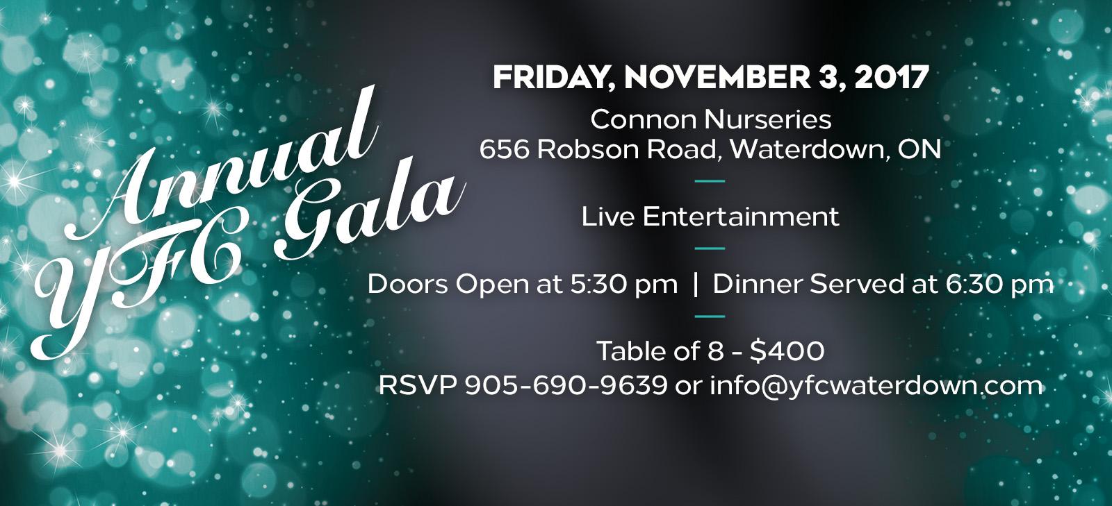 Annual YFC Gala – Nov. 3rd!